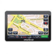GPS auto Smailo HD 5.0 FEU LMU (Actualizari gratuite), 5 inch, Toata Europa, Lifetime