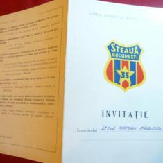 Invitatie catre Lt.Col.Krisan Francisc -ocazia 35 Ani Club Steaua 1982 - Reclama Tiparita