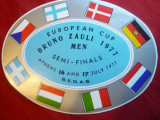 Sticker Reclama - Cupa Europeana Bruno Zauli 1977 , barbati , semifinale Atena