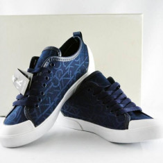 Calvin Klein albastru - Adidasi barbati Calvin Klein, Marime: 40, 41, 42, 43, 44, Culoare: Din imagine, Textil