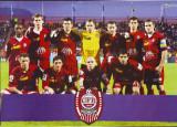 2008 Poster dublu-fata cu echipa de fotbal CFR Cluj si trupa RBD, format A4