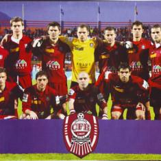 2008 Poster dublu-fata cu echipa de fotbal CFR Cluj si trupa RBD, format A4 - Afis