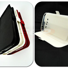 Toc FlipCover Stand Magnet Huawei Y5 Single Sim ALB - Husa Telefon, Plastic, Cu clapeta, Husa