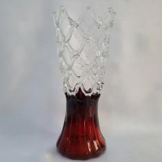 VAZA VECHE STICLA IMPLETITA MASIVA - Vaza sticla