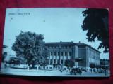 Ilustrata Pitesti - Oficiul PTTR cca.1962 ,cu eroare pe timbru, Circulata, Fotografie