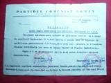 Adresa cu Antet PCR Org.Judeteana Braila ,stampila PCR 1947