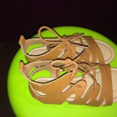 Sandale Next piele, ca noi, mar. 32 - Sandale copii Next, Culoare: Maro