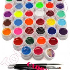 Set 36 geluri UV Color ENS PRO pentru Lampa UV set geluri colorate + CADOU - Gel unghii