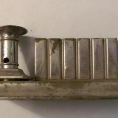 PVM - Suport vechi metal nichelat pentru 6 tocuri calimara si lumanare