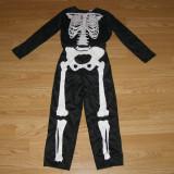 Costum carnaval serbare schelet pentru copii de 3-4 ani - Costum Halloween, Marime: Masura unica, Culoare: Din imagine