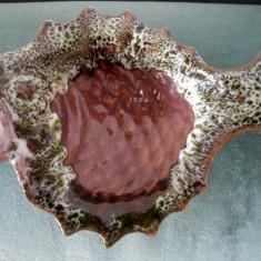 Bibelou / scrumiera in forma de peste de ceramica, 13cm, decor, colectie