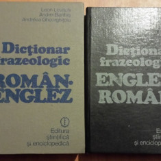 Dictionar Frazeologic Roman-englez englez roman - Leon Levitchi (1981)