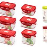 Set 8 recipiente de plastic fara BPA S8R6800/RD Oursson