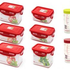 Set 8 recipiente de plastic fara BPA S8R6800/RD