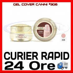 GEL UV COVER CANNI NATURAL PINK #306, 15 ML  - CONSTRUCTIE MANICHIURA, UNGHII UV