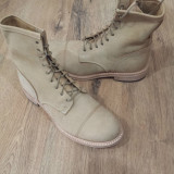 OFERTA !Cizme/bocanci LUX TIMBERLAND Boot Company handmade piele integral 45 ! - Cizme barbati Timberland, Culoare: Crem, Piele naturala