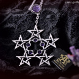 Pandantiv gotic cu pentagramă PentaGramatron - Pandantiv fashion