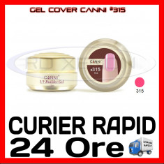 GEL UV COVER CANNI PINK #315, 15 ML - CONSTRUCTIE MANICHIURA, UNGHII UV - Gel unghii Canni, Gel de constructie
