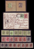 1919 Colectie Posta Romana la Constantinopol, cp circulata + timbre + suvenir