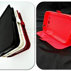 Toc FlipCover Stand Magnet Huawei Y5 Dual Sim ROSU - Husa Telefon, Plastic, Cu clapeta, Husa