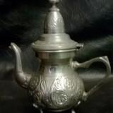 Ceainic, vintage, bronz argintat, Marquee Deposee - Metal/Fonta