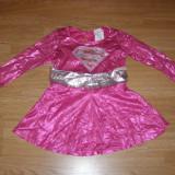 Costum carnaval serbare supergirl pentru copii de 3-4 ani - Costum Halloween, Marime: Masura unica, Culoare: Din imagine