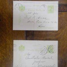 Lot de doua carti postale adresate lui Constantin Moisil 1913 - Harta Europei