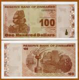 !!!  ZIMBABWE  -  100  DOLARI  2009  -  P 97  -  UNC  // SERIA  AA