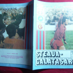 Program Meci Fotbal Steaua Bucuresti - Galatasaray 1989-Semifinala Cupei Europei