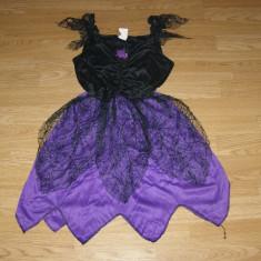 Costum carnaval serbare vrajitoare pentru copii de 10-11-12 ani - Costum Halloween, Marime: Masura unica, Culoare: Din imagine