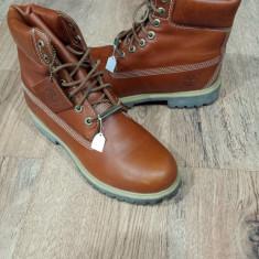 Bocanci barbat TIMBERLAND originali piele waterproof nuanta coniac 40/43
