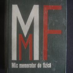 IOAN IOVIT POPESCU - MIC MEMORATOR DE FIZICA