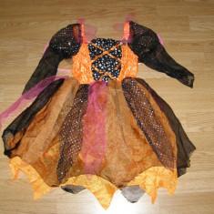Costum carnaval serbare vrajitoare zana pentru copii de 7-8 ani - Costum Halloween, Marime: Masura unica, Culoare: Din imagine