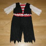 Costum carnaval serbare pirat pentru copii de 3-4 ani - Costum Halloween, Marime: Masura unica, Culoare: Din imagine