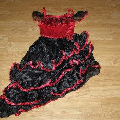Costum carnaval serbare rochie dans flamengo pentru copii 7-8 ani - Costum Halloween, Marime: Masura unica, Culoare: Din imagine