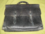 Geanta/ servieta neagra RPR anii '60