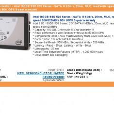 SSD INTEL 180GB 520 SERIES, SATA 3