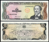 !!! RARR :  REPUBLICA  DOMINICANA  -  1  PESO ORO  1988 - P 126 c - UNC