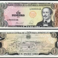 !!! RARR : REPUBLICA DOMINICANA - 1 PESO ORO 1988 - P 126 c - UNC - bancnota america