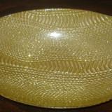 Fructiera/Centru de masa AKCAM TURCIA Cristal Semicristal aurit