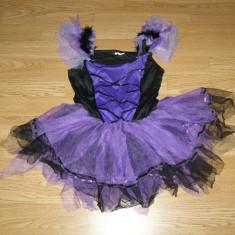 Costum carnaval serbare vrajitoare pentru copii de 7-8 ani - Costum Halloween, Marime: Masura unica, Culoare: Din imagine