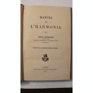CY - Hugo RIEMANN Manual de Armonie  in limba germana 1926