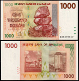!!!  ZIMBABWE  -  1.000  DOLARI  2007  -  P 71  -  UNC  // SERIA  AB