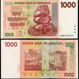 !!! ZIMBABWE - 1.000 DOLARI 2007 - P 71 - UNC // SERIA AB - bancnota africa