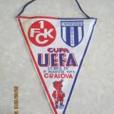 Fanion panza,fotbal Universitatea Craiova-FC Kaiserslautern,16 martie 1983