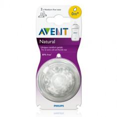 Tetine Philips Avent Natural 1 si 3 orificii 0 - 3 luni + / biberoane / biberon, 0-6 luni, Fara BPA