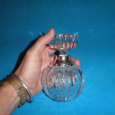 Sticluta parfum cristal cu argint 925 Germania - Sticla de parfum