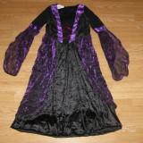 Costum carnaval serbare vrajitoare cadana printesa pentru copii de 7-8 ani - Costum Halloween, Marime: Masura unica, Culoare: Din imagine