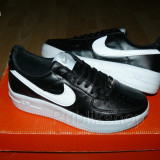 Adidasi Nike Air Force negru/alb - Adidasi barbati Nike, Marime: 37, 38, Culoare: Din imagine, Piele sintetica
