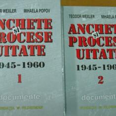 Anchete si procese uitate 2 volume Zissu Cohen Moscovici Weiss Hirsch Haas Kuhn - Carti Iudaism